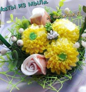 Корзина цветов- мыло ручной работы- лучший подарок