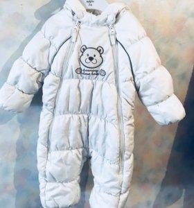 Детский зимний комбинезон в очень хорошем состояни