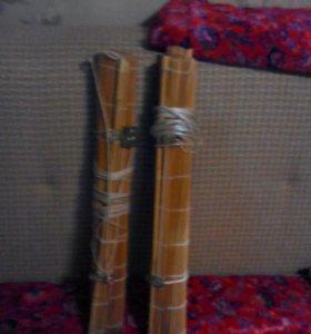 Шторки бамбуковые 2 шт   смс