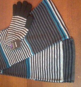 Перчатки с шарфом