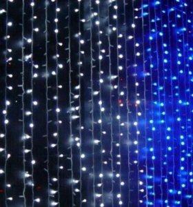 LED-занавесы - водопад (3х3 метра)