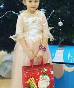 Новогодний костюм.Платье Барби.