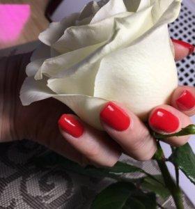 Маникюр (покрытие гель- лаком, укрепление ногтей)