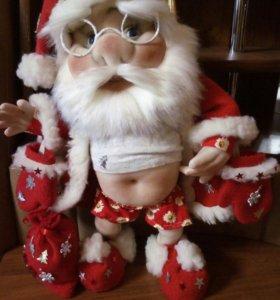Каркасная куколка.Дед мороз.