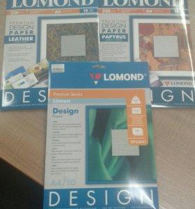 Дизайнерская фотобумага матовая:кожа,папирус,лен