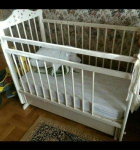 Детская кровать+ортопедич.матрас