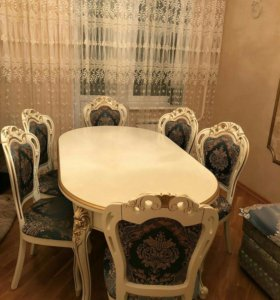 Столовая группу стол и  4 Стула Гранд