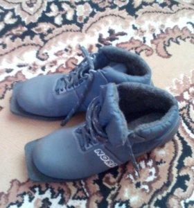 Лыжные ботинки (40р)