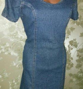 Джинсовое 42-44 платье