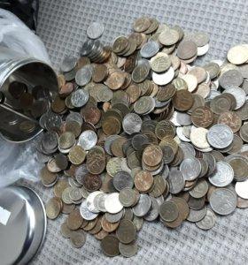 Монеты 1,2,5,10 копеек 1 килограмм 132 грамма