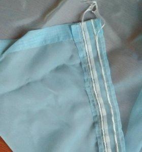 Тюль шторы готовые голубые