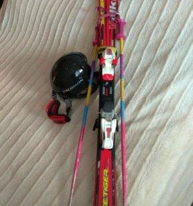 Лыжи горные деткий/подростковый комплект 120см