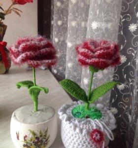 Продаются вязанные цветы!!!