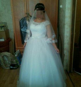 Счастливое свадебное платье ( 46-52 )