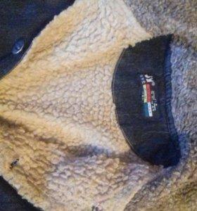 Джинсовая куртка на 6 лет утепленная