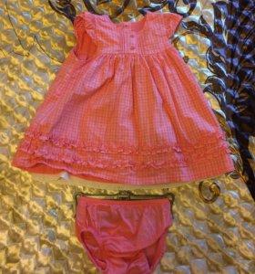 Платье для девочки 3-6мес.