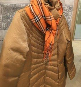 Пуховик пальто на пуху из Италии HFN