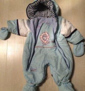 Детский осенне-зимний комбинезон Pilguni 74 р-р