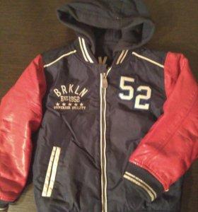 куртка с подстёжкой 3 в 1 б/у