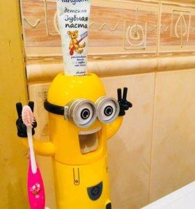 Миньон держатель зубных щёток и пасты детский нов