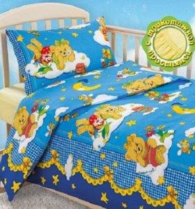 Детское постельное белье  (с простыней на резинке)