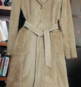 Замшевое пальто , размер М