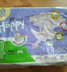 Подгузники Happy 4 maxi