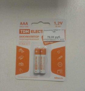 Аккумулятор 1000 мА R3 1,5 V ТДМ