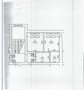 Квартира, 1 комната, 42.6 м²