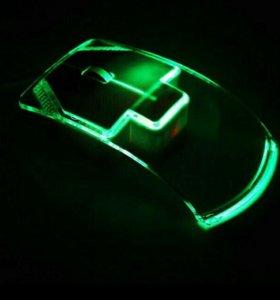 Прозрачная USB мышка с подсветкой (НОВАЯ)