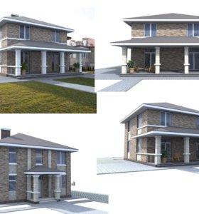 Продам готовый проект 2-х этажного дома