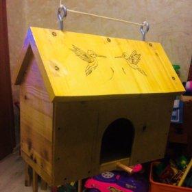 Дом для птиц/скворечник, кормушка, дерево...