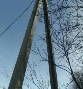 Продам столбы ЛЭП железобетон , 9 метров