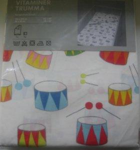 Постельное белье (пододеяльник+наволочка) IKEA