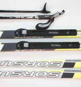 Комплект лыж с ботинками и палками NNN (новый)
