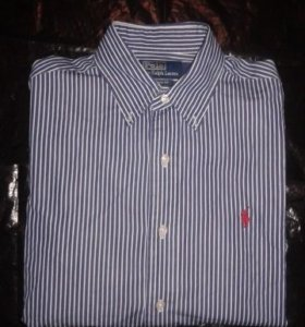 Муж. рубашка, оригинал Polo Ralph Lauren хлопок
