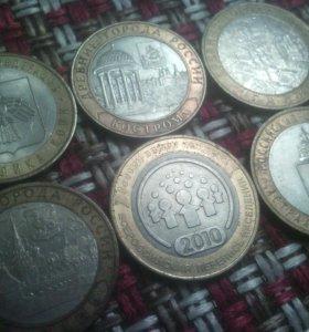 Продам манеты100 и 10 рублей