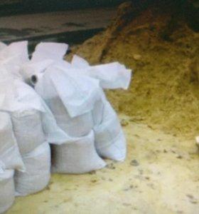 Песок в мешках по 30 кг