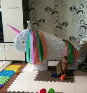 Единорог декорации на детский праздник (пиньята )
