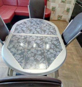 Стол раздвижной +4стула
