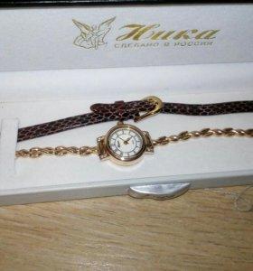 Часы золотые Ника