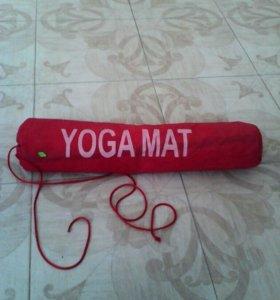 Йогамат, коврик текстильный, новый