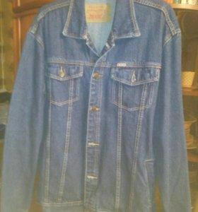 На высокий рост джинсовая куртка