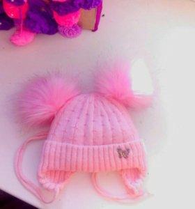 Зимняя шапка с 0до 4м