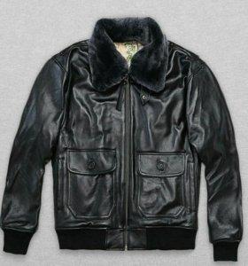 G-1 кожаная куртка бомбер новая