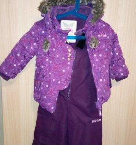 Зимний костюм на девочку 86 р