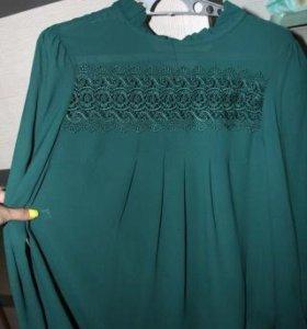 Новая красивая блузка с длинным рукавом