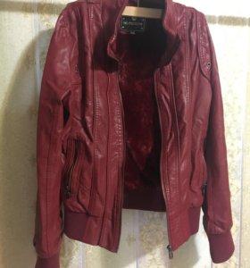 Кожаная куртка (кожзам) на еврозиму