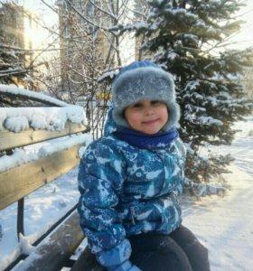 Зимняя шапка на мальчика.
