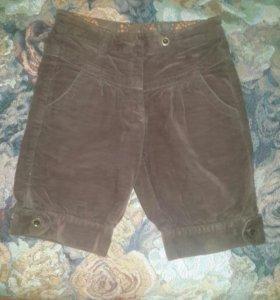 Вельветовые шорты на девочку (6-8лет)